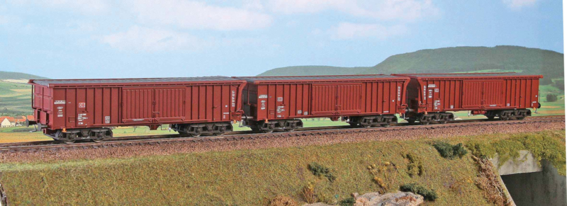 H0 | ACME 45017 - DB AG, 3-delige set goederenwagens type Taems 889