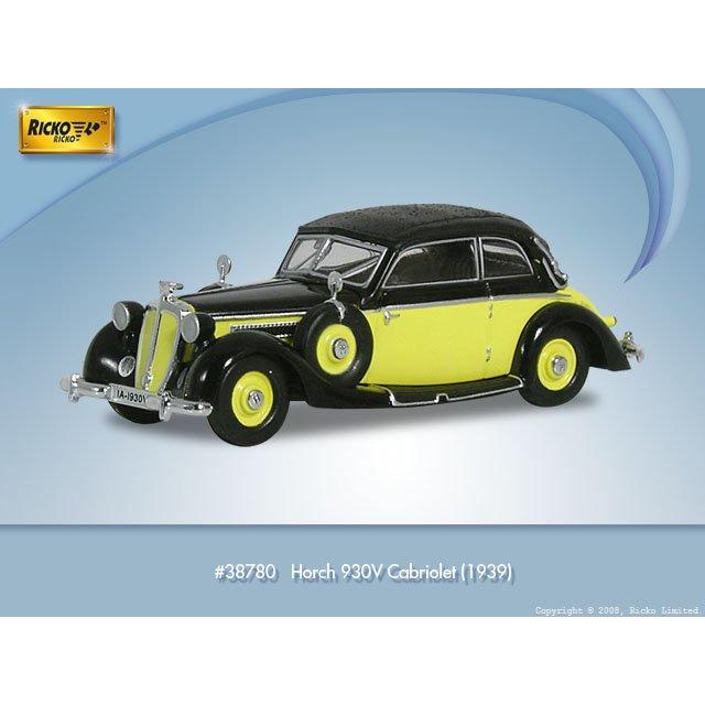 H0   Ricko 38780 - Horch 930V, Cabriolet,yellow/black, 1939