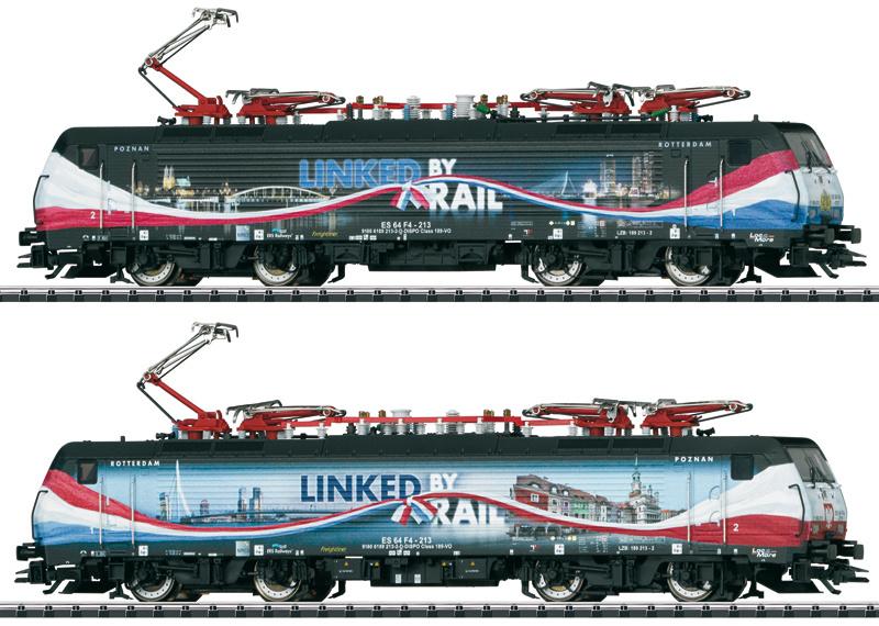"H0   Trix 22862 - ERS BR 189 213 ""Linked by Rail"" (DC sound)"