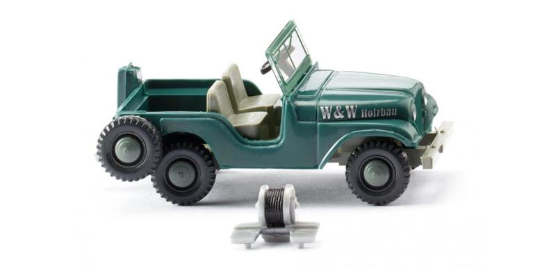"H0 | Wiking 001103 - Jeep ""W & W Holzbau"" (1)"