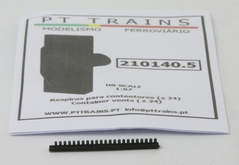 H0 | PT Trains 210140.5 - Set met 24 container ventilatoren, zwart