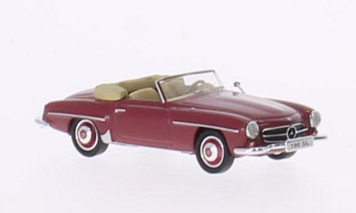 H0 | Ricko 38093 - Mercedes 190 SL (W121 BII), donkerrood