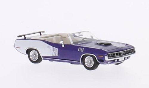 H0 | Ricko 38283 - Plymouth HEMI Cuda Convertible, metallic-violett/Decor, 1971