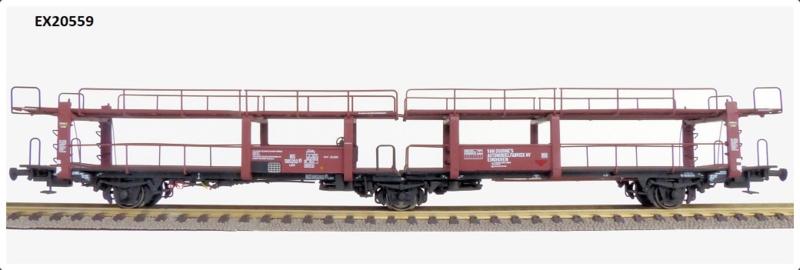 H0   Exact Train EX20559 - NS Lacs 3-assige Autotransportwagen