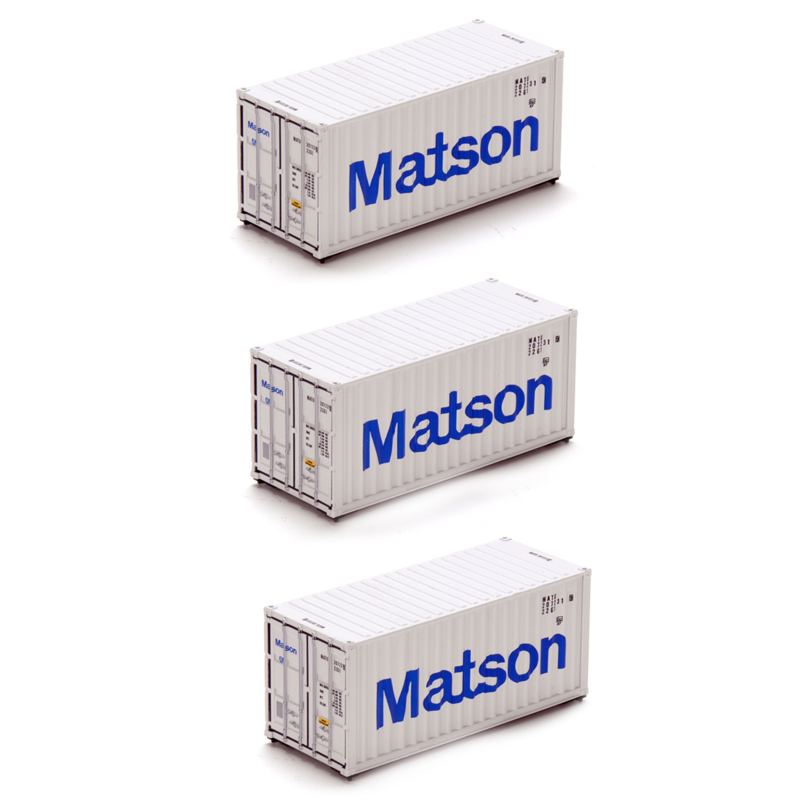 H0 | Athearn ATH28824 - Container 3 Pack 20' – Matson