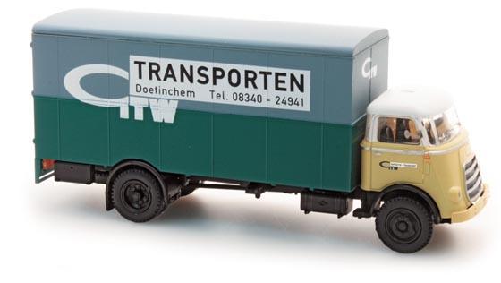 H0 | Artitec 487.031.01 - DAF Vrachtwagen kofferopbouw, cab 1959, 'GTW'