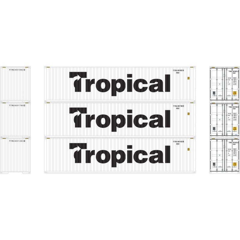 H0 | Athearn ATH28391 - Container 3 Pack 40' – Tropical