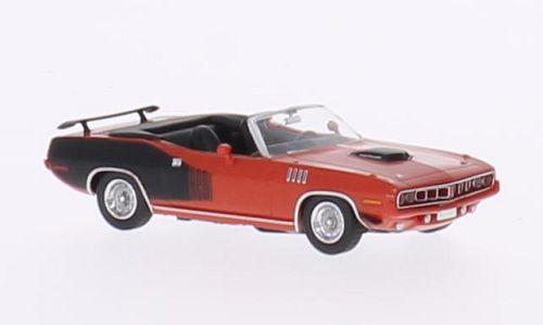 H0 | Ricko 38383 - Plymouth HEMI Cuda Convertible, rood/Decor, 1971
