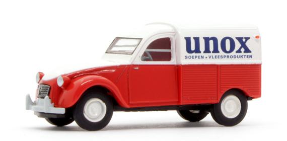 "H0 | Brekina 14165 - Citroën 2CV - ""UNOX"" (NL)"