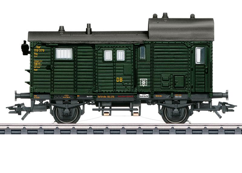 H0 | Märklin 46986 - DB, Goederentrein-bagagewagen Pwg Pr 14 (AC sound)