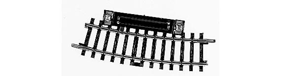 H0   Märklin 2229 - Schakelrailstuk gebogen (K-rail)