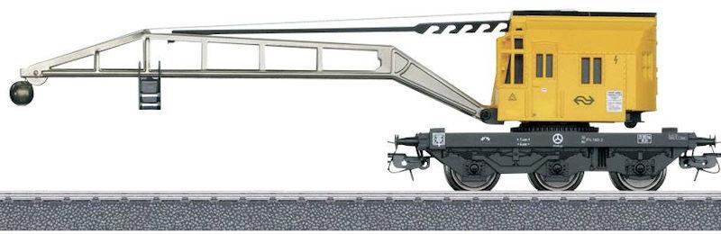 H0 | Märklin 46710.001 - NS Kraanwagen Krupp-Ardelt