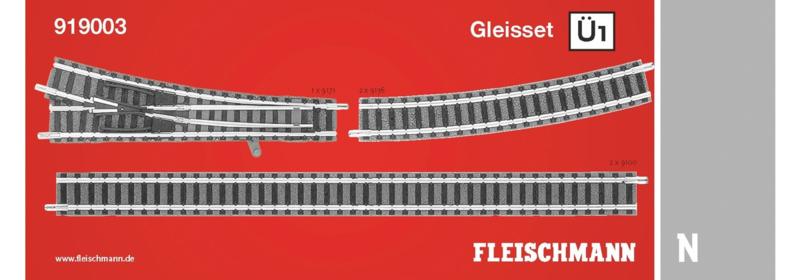 N   Fleischmann 919003 - Railset Ü1