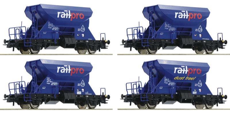 H0 | Roco 76137 - Set ballastwagens Railpro