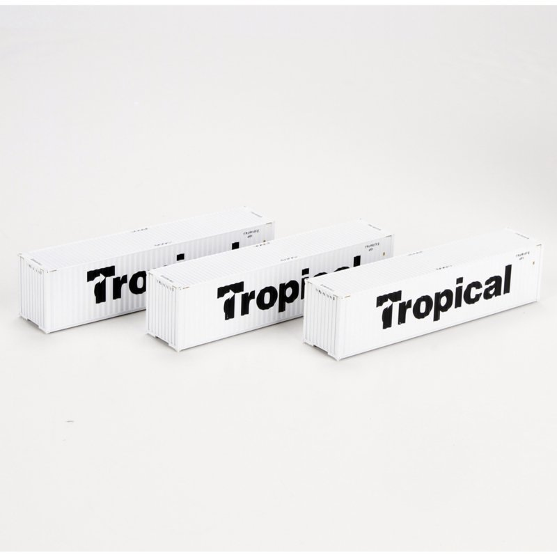 H0 | Athearn ATH28390 - Container 3 Pack 40' – Tropical