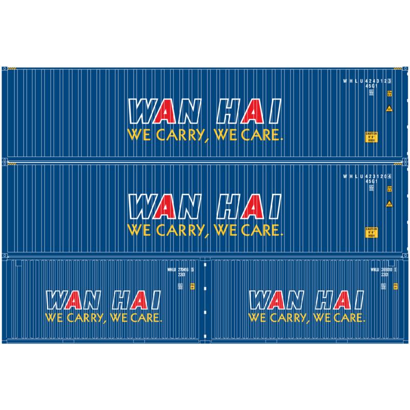 H0 | Athearn ATH27880 - Container 4 Pack – Wan Hai
