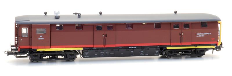 H0   Artitec 20.249.01 - Ongevallenwagen NS 157106, bruin, depot Den Haag