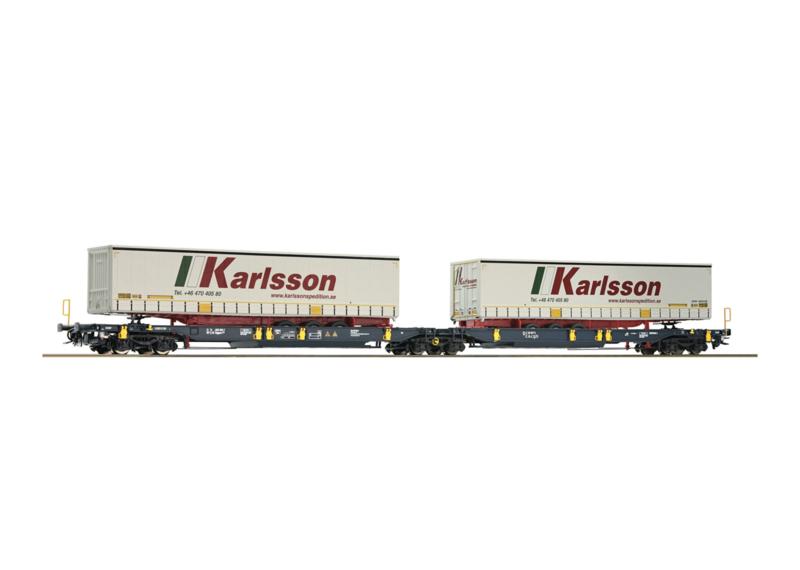 H0 | Roco 67400 - Containerwagen Green Cargo