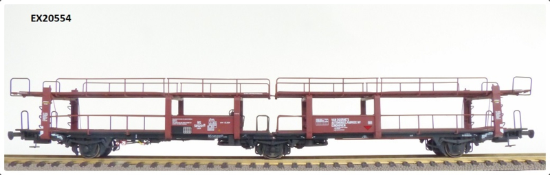 H0   Exact Train EX20554 - NS Lacs 3-assige Autotransportwagen