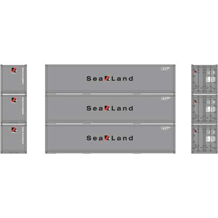 H0 | Athearn ATH 27168 -RTR 40' Smooth Side Container, Sealand (3)