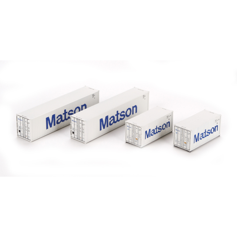 H0 | Athearn ATH27942 - Container 4 Pack 40' en 20' – Matson