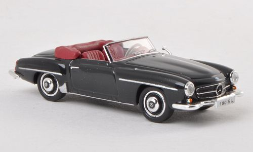 H0   Ricko 38193 - Mercedes 190 SL (W121 BII), zwart