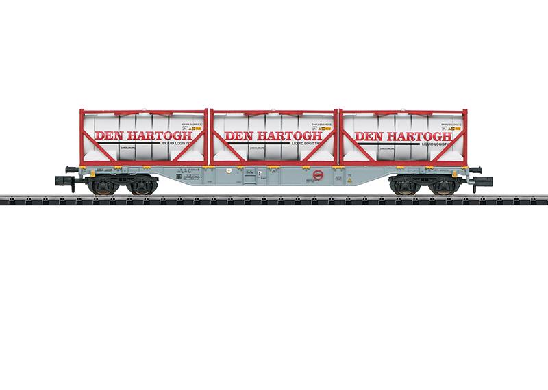 N | Minitrix 15537 - Containerwagen Den Hartogh