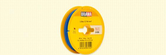 Brawa 3155 - Draad, 0,14 mm², 25mtr, blauw