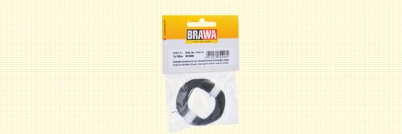Brawa 32408 - Flexibel Decoderdraad, 0,05 mm², zwart