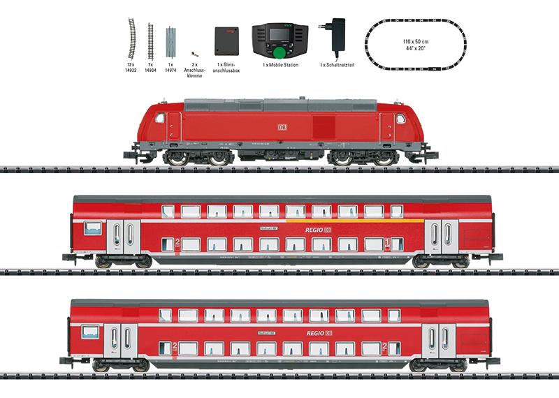 "N   Minitrix 11148 - DB AG, Digitale startset ""regionale expres"" (digitaal sound)"