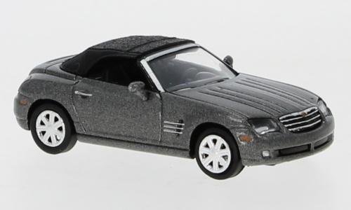 H0 | Ricko 38398 - Chrysler Crossfire Roadster, metallic-dark gray, top closed.