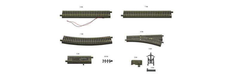 H0   Roco 51251 - Uitbreidingsrailset voor digitale startset