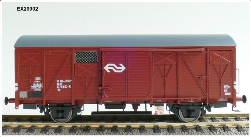 H0 | Exact Train EX20902 - NS, Gs 1410 EUROP met bruine luchtroosters