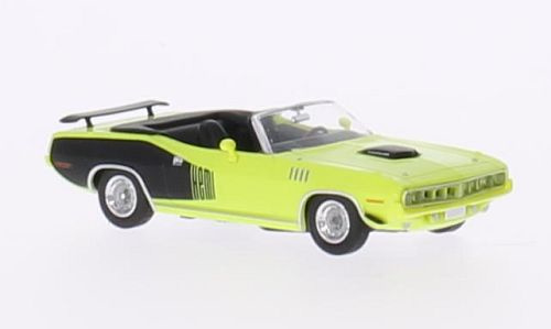 H0 | Ricko 38183 - Plymouth HEMI Cuda Convertible, geel/Decor, 1971