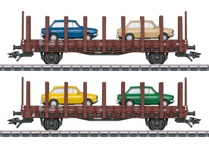 H0 | Märklin 46404 - Set NS platte wagens 'DAF 66'