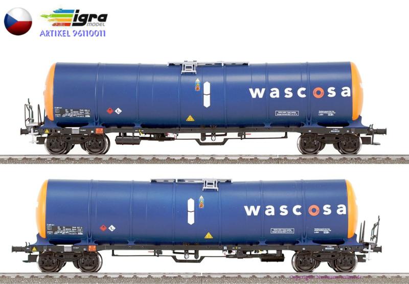 H0 | Igra 96110011/2 - CD, 2 delige set tankwagens Zacns 98 Wascosa