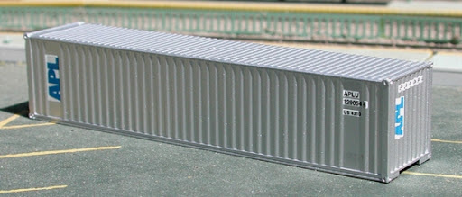 N | De Luxe 5320 - set 40' containers APL silver / corrugated