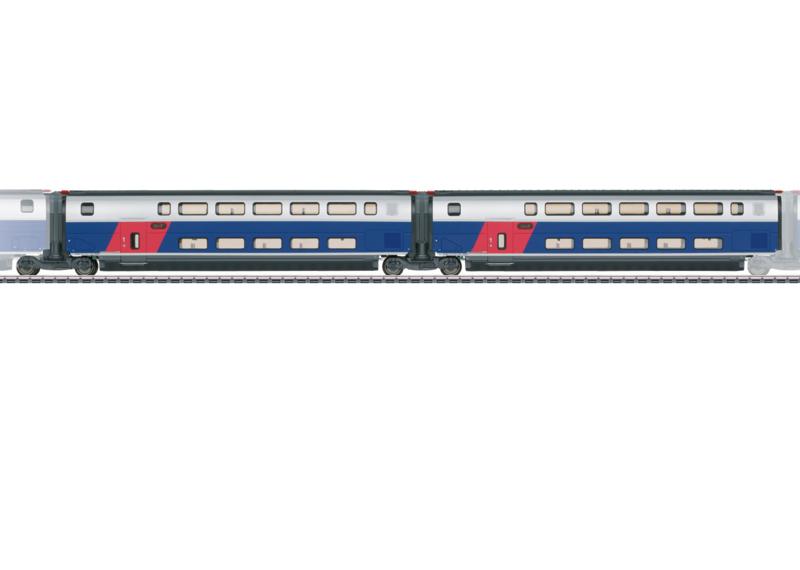 H0   Märklin 43423 - SNCF, Set uitbreidingsrijtuigen 1 voor TGV Euroduplex