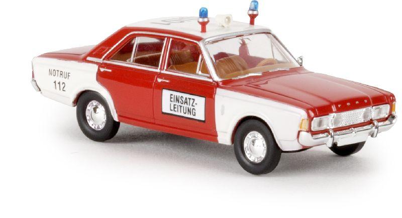 """H0   Brekina 19406 - Ford 17m (P7b) """"Feuerwehr"""""""