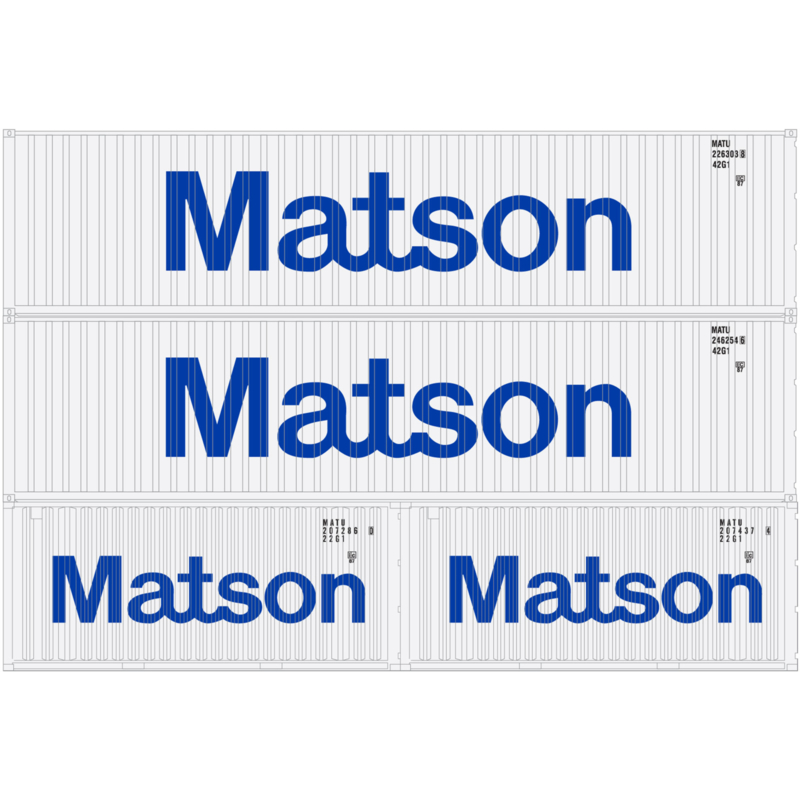 H0 | Athearn ATH27943 - Container 4 Pack 40' en 20' – Matson