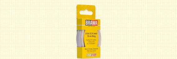 Brawa 3109 - Draad, 0,14 mm², 10mtr, wit
