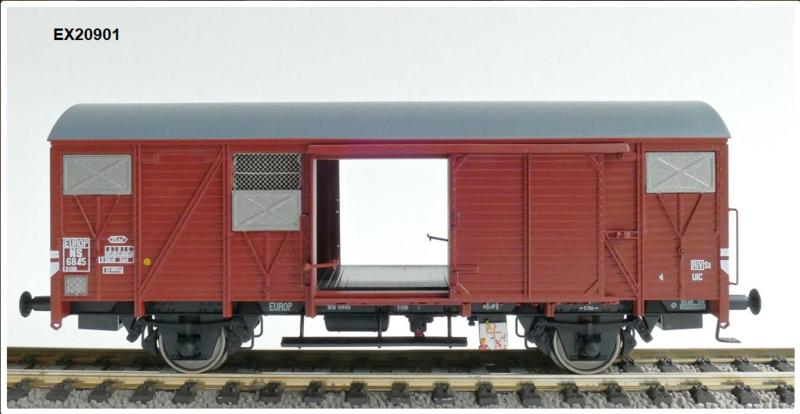 H0   Exact Train EX20901 - NS, S-SHO EUROP met aluminium luchtroosters
