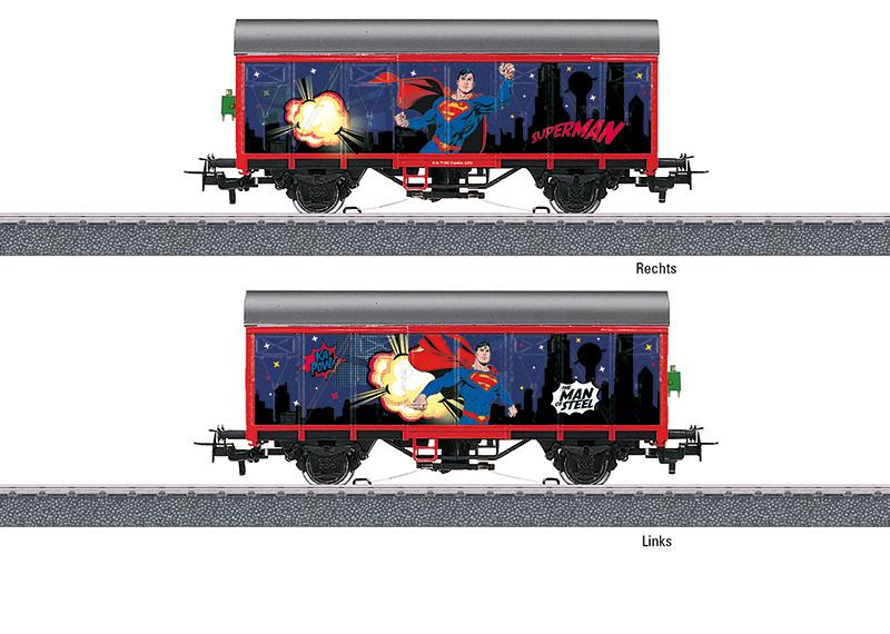 H0 | Märklin Start up 44825 - gesloten goederenwagen Superman