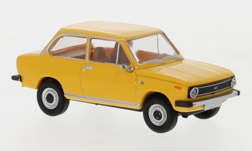 H0   Brekina 27651 - DAF 66, geel, 1972 (8)