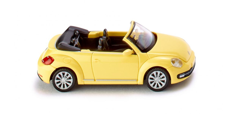 H0   Wiking 002801 - VW The Beetle cabriolet saturn yellow (1)