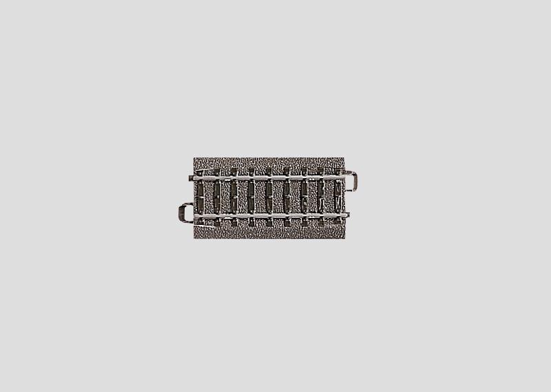 H0 | Märklin 24071 - Recht railstuk 70,8 mm met afneembare bedding (C-rail)