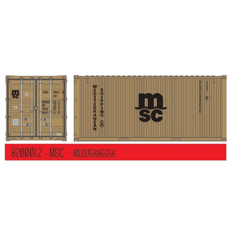 "H0 | PT Trains 820001.2 - 20ft. Container ""MSC"""