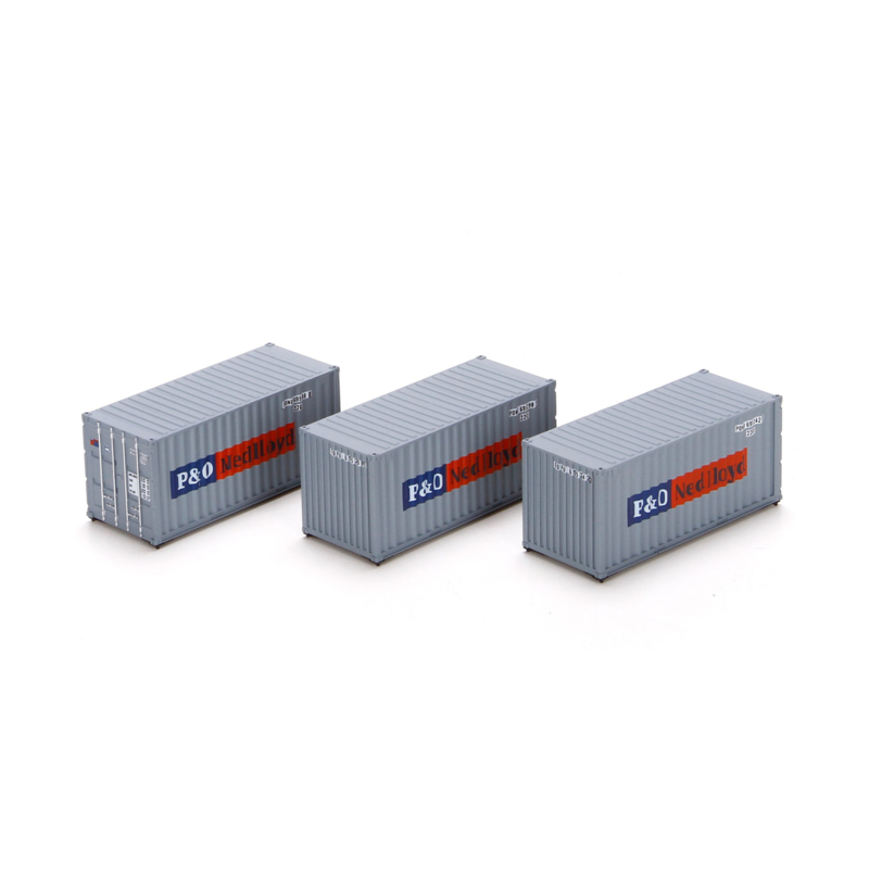 H0 | Athearn ATH27834 - Container 3 Pack 20' – P&O Nedlloyd