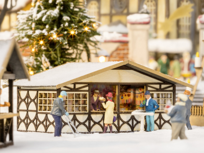 H0   NOCH 14392 - Kerstmarktkraam