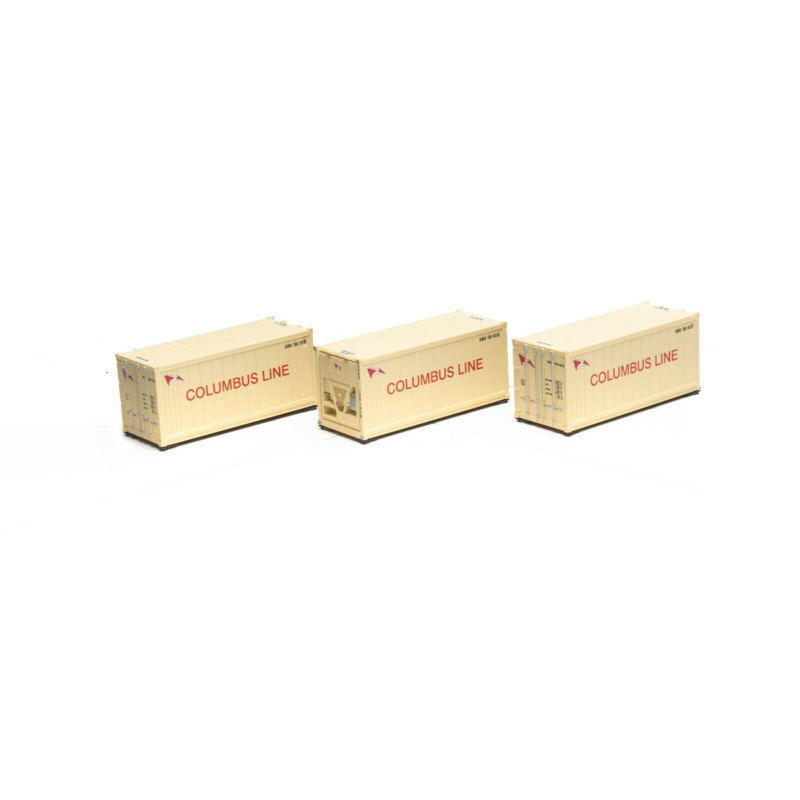 H0 | Athearn ATH28802 - Reefer Container 3 Pack 20' – Columbus Line